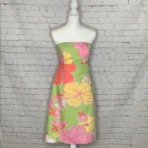 Lilly Pulitzer Hibiscus Strapless Franco Dress